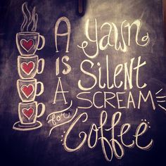 Coffee chalk wall art