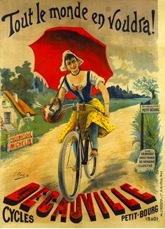 old poster-ad for Decauville bikes | Flickr - Photo Sharing!