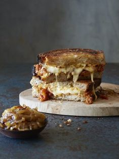 The Ultimate Cheese Toastie With Smoky Chipotle Relish And Caramelized Onions - NOMU Tomato Relish, Toast Sandwich, South African Recipes, Feeding A Crowd, Slice Of Bread, Daily Bread, Caramelized Onions, Chipotle, Food And Drink