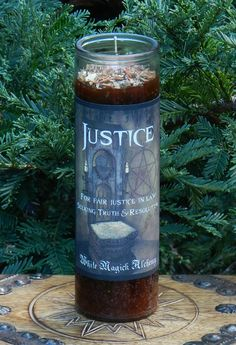 Justice Ritual Spell Jar Vigil Candle Candle Spells, Candle Jars, Vigil Candles, Life Unexpected, Truth And Justice, Beautiful Candles, Burning Candle, Glass Jars, Magick