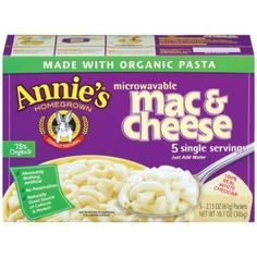"Where has this been all my life!!!Annies ""Totally Natural Microwavable Mac & Cheese, White Cheddar"""