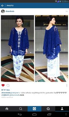Loose kebaya Kebaya Brokat, Kebaya Dress, Batik Kebaya, Batik Dress, Kimono, Kebaya Muslim, Muslim Dress, Batik Fashion, Hijab Fashion
