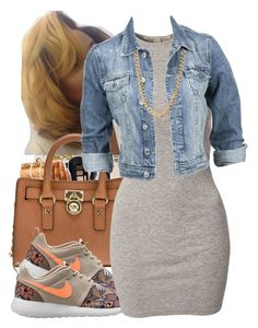 """""""."""" by independentbxtchesonly ❤ liked on Polyvore featuring MICHAEL Michael Kors, NIKE, NLY Trend and Modström"""