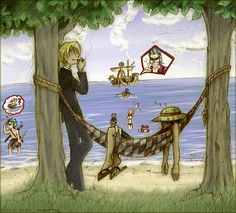 One Piece - Mugiwara Chill Out by sora-ko on DeviantArt