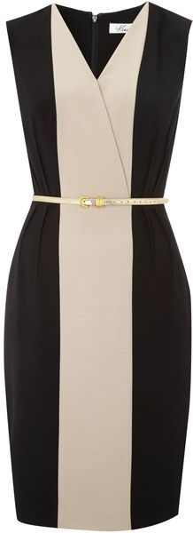 Kenneth Cole Panel Dress with Belt