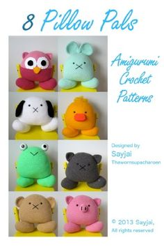 8 Pillow Pals Amigurumi Crochet Patterns (Easy Crochet Doll Patterns).