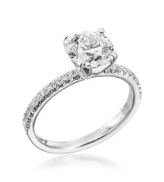 "Michael C. Fina - Enchanted Collection Platinum 1.00ct Round Engagement Ring  Sooo simple and amazing, this is my hands down favorite, similar to Tiffany & Co's ""Novo"""