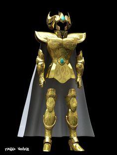Las 2 armaduras doradas reales11
