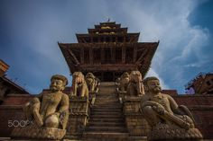 Nyatpol Temple - Nyatpol Temple still standing strong after the strong earthquakes that hit Nepal on April and May.