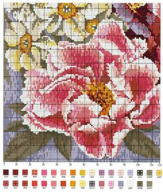floral picture  cross stich patterns  @Anna Halliwell Boyd Fontaine'  Collection