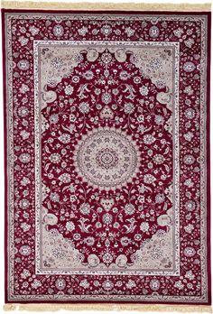 Red 6' 7 x 9' 5 Isfahan Design Rug | Area Rugs | iRugs UK