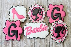 Barbie cookies by The Pink Mixing Bowl!