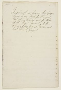 Frederick, Prince of Wales, Instructions for my Son George, 1749. Royal Archives / © Her Majesty Queen Elizabeth II 2014