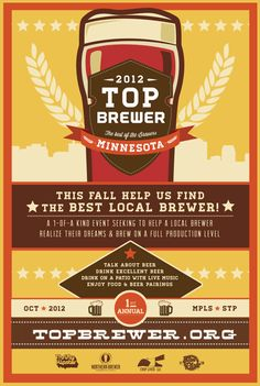 Top brewer event poster home brew competition