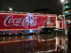 Coca-Cola Christmas truck in Kamppi, December Coca Cola Christmas, Christmas Truck, Helsinki, Broadway Shows, December