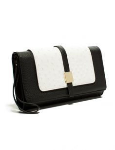 The Limited - Multi-pocket Clutch in Black & White: $39.90