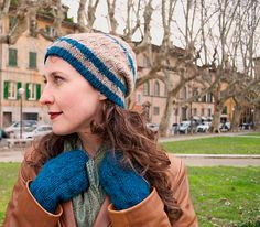Mixology by Rachel Horsting. Very warm hat & mitts in Ultra Alpaca