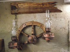 """Lamp """"Wheel"""" – lamps, antique lamps, wooden lamps Get free fonts for Cricut Design Space The ultimate space saving tool cart Rustic Lamps, Wood Lamps, Antique Lamps, Rustic Lighting, Rustic Decor, Outdoor Lighting, Driftwood Lamp, Ceiling Light Design, Outdoor Light Fixtures"""