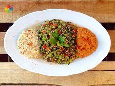 Tabule con hummus y muhammara, receta del mes enero 2015 en Consciencia Viva
