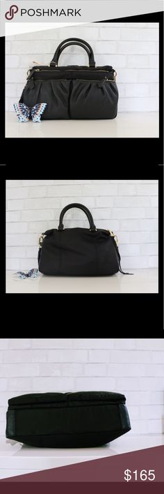 Aimee Kestenberg Saratoga Carnival Bag Black NWT Versatile Aimee Kestenberg Saratoga satchel combines unique zipper detail, soft materials and tons of function for an everyday ease satchel to carry around. The front features an oversized zipper along the length of the entire bag, as well as two additional zipper pockets for quick access. Wear it with a longer strap or carry it by the handles. Materials : Nylon/ Leather and shiny gold hardware. Aimee Kestenberg Bags Satchels