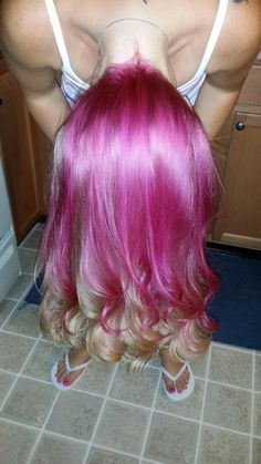 Blonde with pink underneath