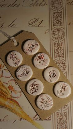Polymer Clay Buttons by Craftbox on Folksy