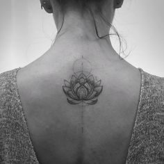 Lotus flower tattoo design on back tatoo тату Fine Line Tattoos, Body Art Tattoos, Small Tattoos, Tatoos, Piercings, Piercing Tattoo, Lottus Tattoo, Mandala Arm Tattoo, Sternum Tattoo