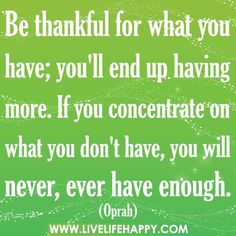 Be thankful always to God for all things.