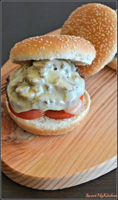 Beef and mushroom burguer