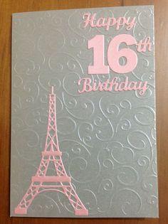 Eiffel Tower 16th Birthday Card
