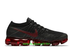 12a838774c6ef Chaussures Nike Running Pas Cher Pour Homme Nike Air VaporMax Flyknit Noir Rouge  849558-013