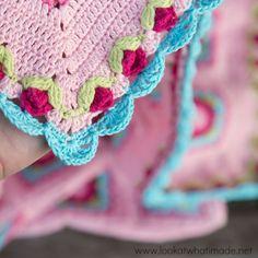 How to Crochet Rose Border