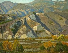 William Wendt, At the base of the mountains