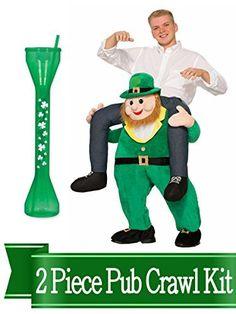 St Patricks Day Leprechaun Rider Costume and Accessory Bundle Green St Patrick's Day Costumes, Irish Festival, Homemade Halloween Costumes, Pub Crawl, St Patricks Day, Saint Patricks, Paddys Day, Costume Contest, Leprechaun