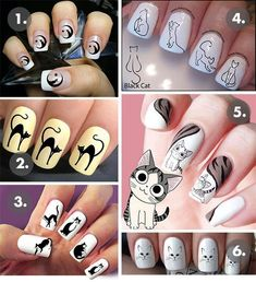 Cat Style Trend Alert: Your Ultimate Shopping Guide for Cat Nail Decals! Cat Nail Designs, Holiday Nail Designs, Cat Nail Art, Cat Nails, Christmas Nail Art, Holiday Nails, Nagel Gel, Nail Decals, Stylish Nails
