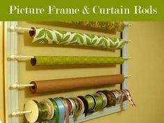 Picture frame & curtain rods