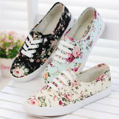 750472c57 R$ 83.89 |Novo 2014 sapatas de lona das mulheres sapatos casuais sapatos  baixos flat algodão feito sapatos único preguiçosos plataforma impresso  flor ...
