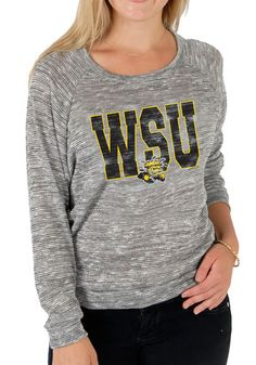 Wichita State Shockers Womens Long Sleeve Scoop Neck Tee http://www.rallyhouse.com/wsu-shockers-womens-grey-erica-long-sleeve-scoop-neck-16240023?utm_source=pinterest&utm_medium=social&utm_campaign=Pinterest-WSUShockers $39.99