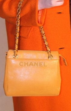 Fabulous Vintage Orange Handbag from the 1980's Pinned by TheChanelista on Pinterest.
