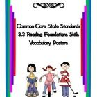 In this file you will find posters defining and illustrating Common Core vocabulary for third grade reading foundation skills for standard 3.3. Pos...