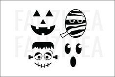 Cute Halloween Cakes, Halloween Ghosts, Halloween House, Frankenstein, Cartoon Clouds, Beach Landscape, Silhouette Designer Edition, Mask Design, Cricut Design
