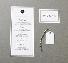 Wedding Menu Modern Elegant. $2.00, via Etsy.