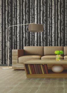 Brewster Distinctive Black Birch Tree Wallpaper | 2900-31052