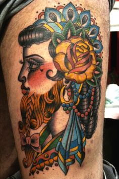 Bearded Lady by Darcy Nutt Owner/Artist Chalice Tattoo