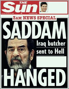 Newspaper headline saddam hussein hanged - Google Search