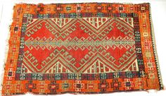 Small Antique Tribal Moroccan Berber Middle Eastern Handmade Rug 21x35 #Tribal