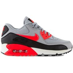Nike Air Max 90 Essential Women's Shoe ($110) ❤ liked on Polyvore featuring shoes, gray shoes, nike footwear, nike, grey shoes and black and white shoes