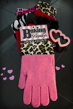Perfect gift for the girl who has everything!  Oven Glove is Made in the USA.  www.bakingbeautys.com $15.99