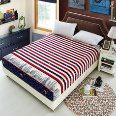 Modern Simple Children Bedding Set 1pc Bed Linen Bed Sheet  Printing Decorative Bed Clothes Household Products Soft Comfortable