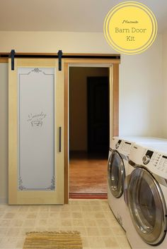 There are a ton of design possibilities with the new Masonite barn door kits . like in your laundry room. Interior Shutters, Interior Barn Doors, Entry Doors, Sliding Doors, Masonite Interior Doors, Interior Design Degree, Track Door, Usa Living, Modern Interior